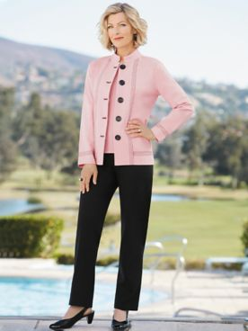 Big Button Ponte Jacket Separates by Brownstone Stone®