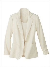 Look-Of-Linen Blazer