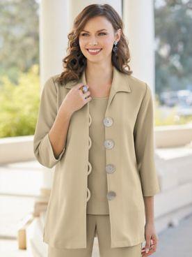 Textured Stretch Crepe Soho Jacket