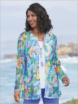 Floral Fantasy Stripe Jacket
