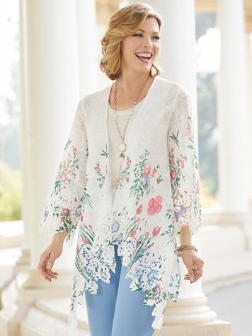 Blossoming Garden Lace Cascade Jacket