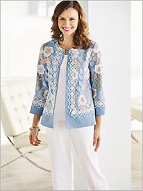 Festival Of Flowers Jacket & Look-Of-Linen Separates