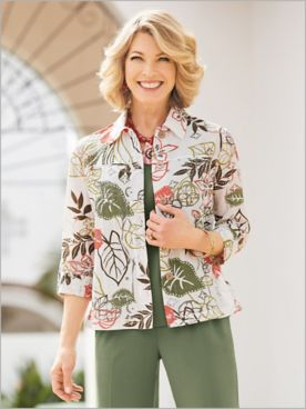 Lotus Blossom Burnout Jacket