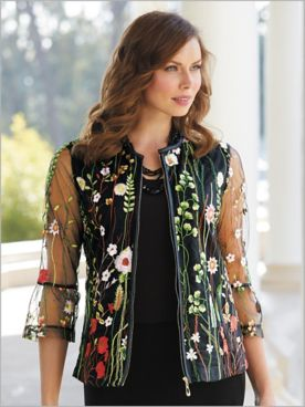 Blissful Blooms Embellished Jacket
