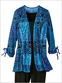 Island Time Printed Lace Jacket