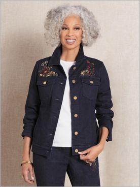 Slimtacular® Decorated Denim Jacket