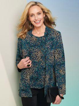 Impressionist Textured Jacket