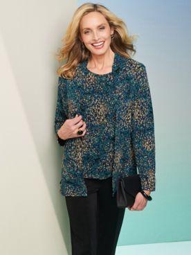 Impressionist Textured Jacket & Tee
