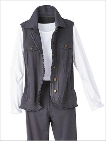 Comfort Knit Denim Vest - Image 1 of 3