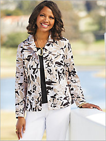 Neutral Watercolor Print Jacket