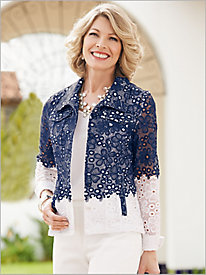 Fabulous Floral Lace Jacket