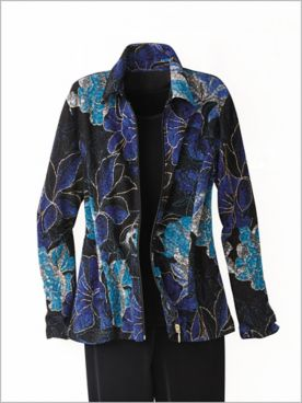 Floral Textured Jacket