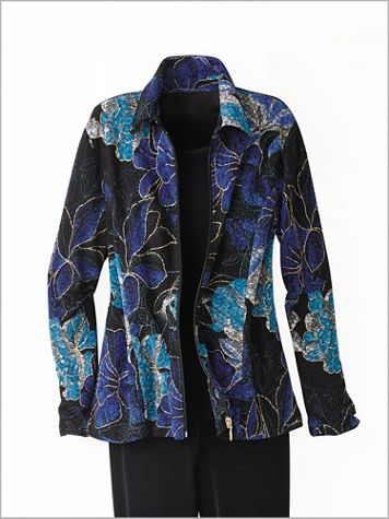Floral Textured Jacket - Image 2 of 2