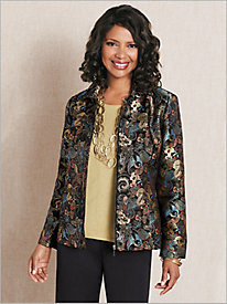 Butterfly Brocade Jacket & Shimmer Shell