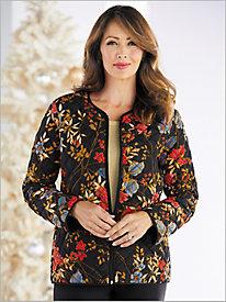 Floral Print Quilt Jacket