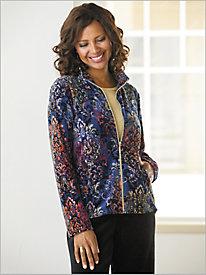 Plush Life Print Velour Jacket by D&D Lifestyle™
