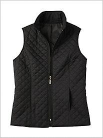 Zip Front Quilted Microfiber Vest