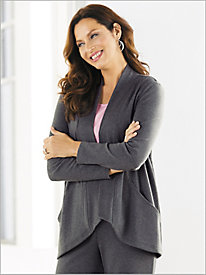 Easy Knit Drape Front Cardigan by D&D Lifestyle™
