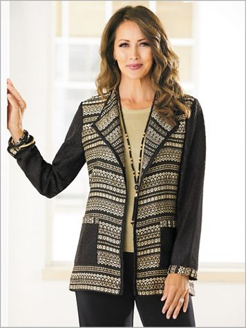 Stripe It Gold Jacket - Image 2 of 2