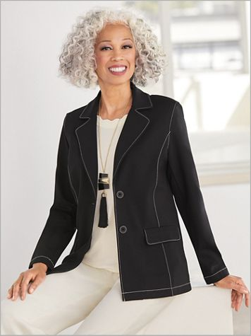 Topstitch Ponte Jacket by Brownstone Studio® - Image 3 of 3