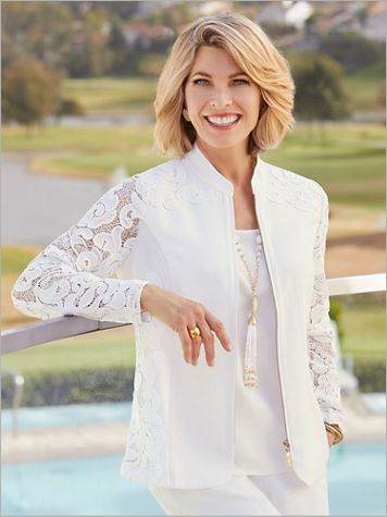 Luxe Linen & Lace Jacket - Image 4 of 4