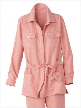 Safari Suede Shirt Jacket