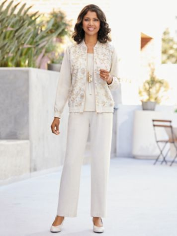 Gilded Glamour Jacket & Look Of Linen Separates