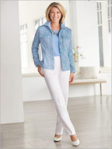 Sunday Brunch Tweed Jacket & Herringbone Pants