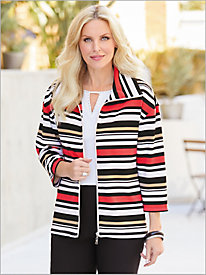In The Mix Stripe Ottoman Jacket