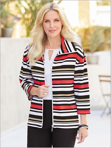 In The Mix Stripe Ottoman Jacket - Image 2 of 2