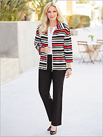 In The Mix Stripe Ottoman Jacket & Slimtacular® Pants