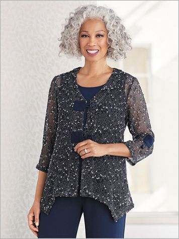 Marvelous Marled Mesh Jacket - Image 1 of 1