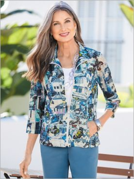 Butterfly Blues Burnout Jacket