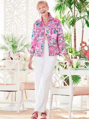 Patchwork Print Jacket & Classic Comfort Pants
