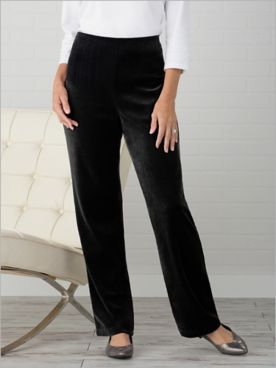 D&D Lifestyle™ Velvet Straight Leg Pull-On Pants