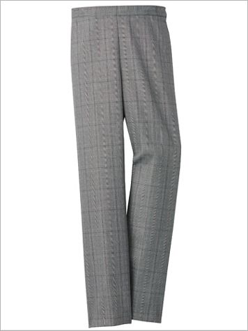 Alfred Dunner Plaid Pull-On Straight Leg Pants - Image 2 of 2