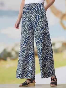 Mystic Mosaic Knit Pull-On Pants
