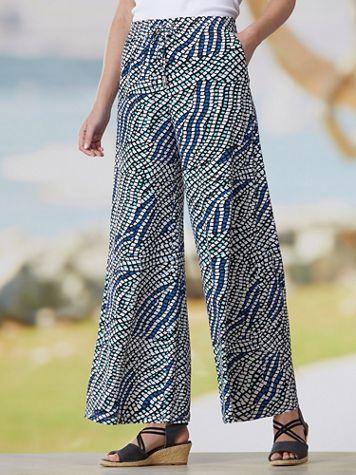 Mystic Mosaic Knit Pull-On Pants