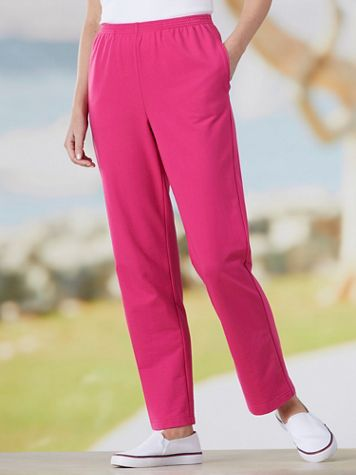 Alfred Dunner French Terry Pull-On Pants