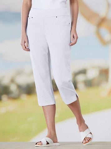 Knit Denim Pull-On Capri Jeans by Ruby Rd.