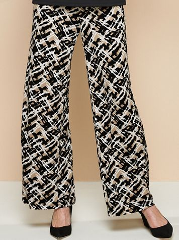 Abstract Neutral Knit Pants - Image 2 of 2