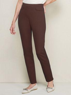 Everyday Slim-Leg Ponte Knit Pull-on Pants