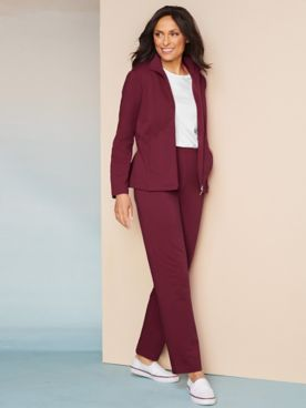 At Ease French Terry Jacket & Pant Set by D&D Lifestyle™