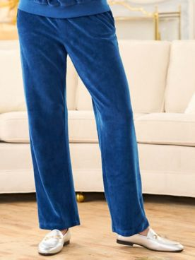 Alfred Dunner Precious Jewels Velour Pants