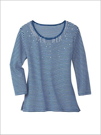 Mélange Knit Tee by D&D Lifestyle™ - Image 0 of 1