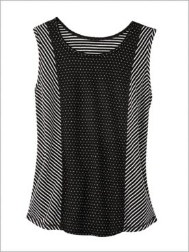 Pattern Play Reversible Tank by D&D Lifestyle™