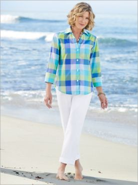 Island Sky Plaid Shirt & Classic Comfort® Pants