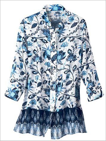 Floral Border Blues Shirt - Image 2 of 2