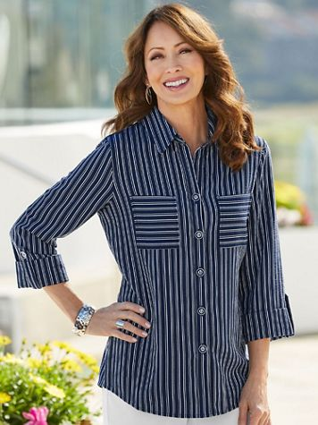 Pucker Stripe Shirt - Image 1 of 3