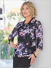 Romantic Roses Tiered Top by Alex Evenings
